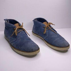 Levi's suede blue ankle boots shoes 11.5